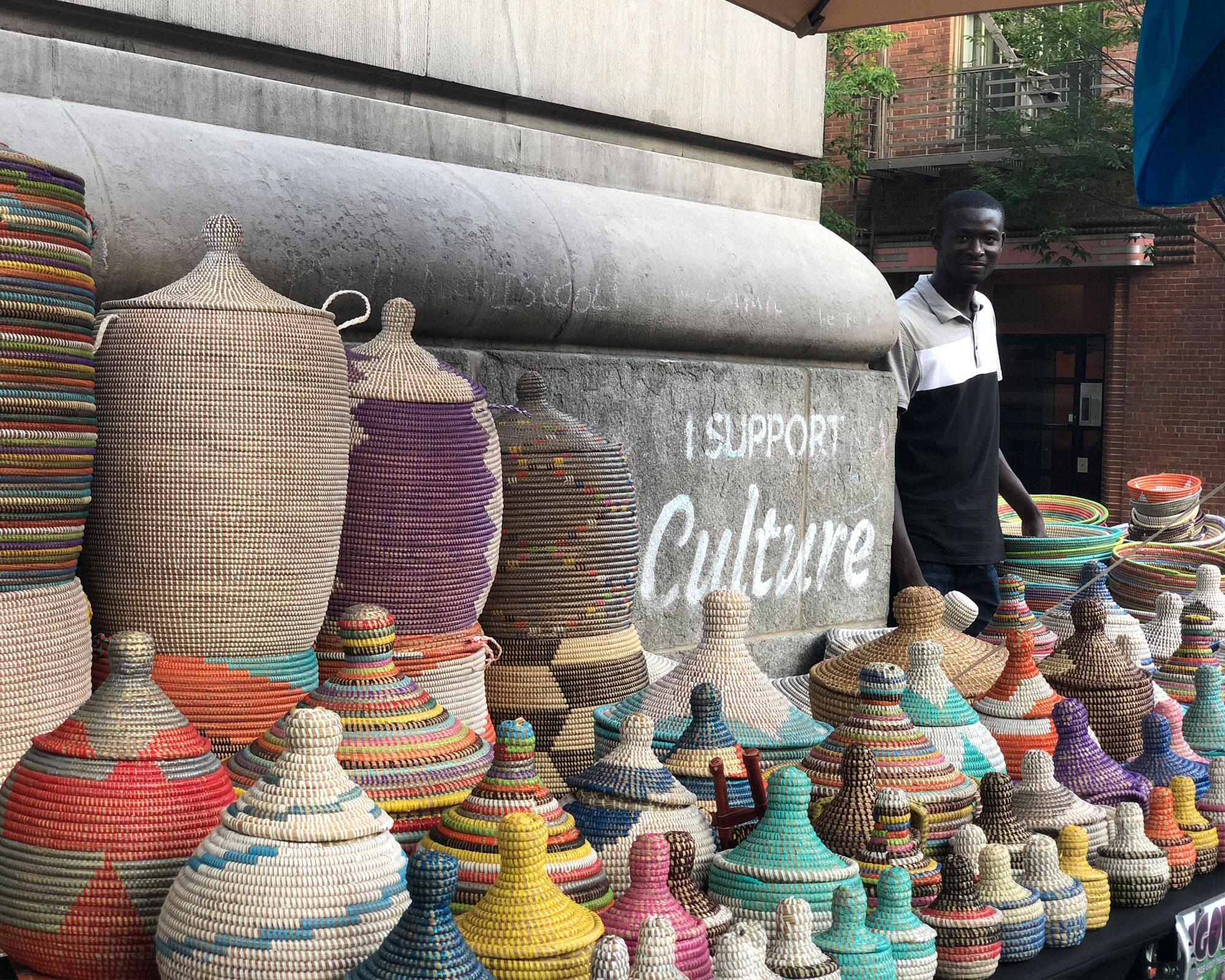 Marketplace Mogul Vendor Authentic Goods of West Africa