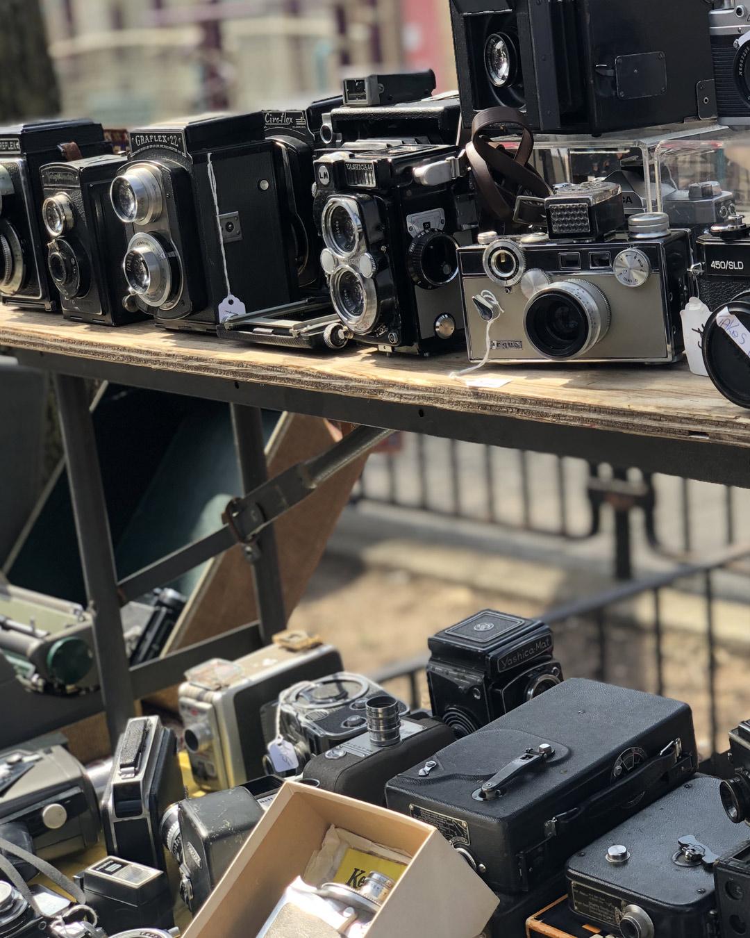 Marketplace Mogul Vendor Selling Antique Cameras
